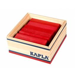 Kapla - Carré de 40 planchettes en bois rouge