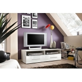 Banc TV - Bern II - 120 cm x 37 cm x 45 cm - Blanc