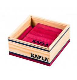 Kapla - Carré de 40 planchettes en bois prune