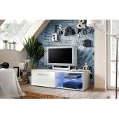 Banc TV - Bono IV - 120 cm x 37 cm x 45 cm - Blanc