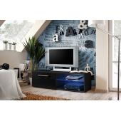 Banc TV - Bono IV - 120 cm x 37 cm x 45 cm - Noir
