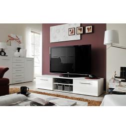 Banc TV - Bono IIB - 180 cm x 37 cm x 45 cm - Blanc