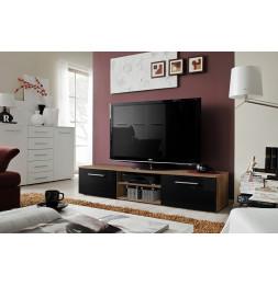 Banc TV - Bono II - 180 cm x 37 cm x 45 cm - Prunier et noir