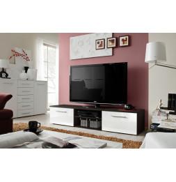 Banc TV - Bono II - 180 cm x 37 cm x 45 cm - Wengé et blanc