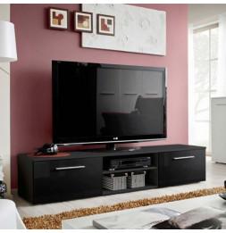 Banc TV - Bono II - 180 cm x 37 cm x 45 cm - Noir