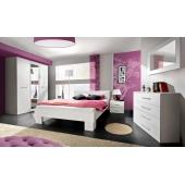 Ensemble de meuble de chambre - VICKY II - 5 éléments - Blanc