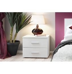 Table de nuit - VICKY I - 50 cm  x 40 cm x 40 cm - Blanc