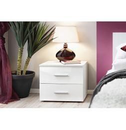 Table de nuit - VICKY II - 50 cm  x 40 cm x 40 cm - Blanc