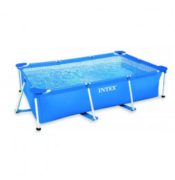 Piscine tubulaire rectangulaire - Metal Frame - 2,20 m x 1,50 m x 0,60 m - Intex