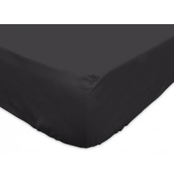 Drap housse - 140 x 200 cm - Gris anthracite - 100% coton