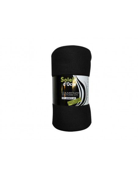 Couverture polaire - 220 x 240 cm - Noir
