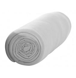 Drap housse 140 x 190 cm 100% coton 57 fils - Zinc