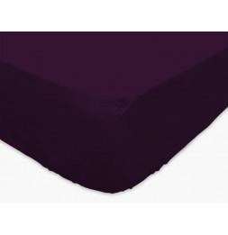Drap housse - 160 x 200 cm - Violet - Coton et polyester
