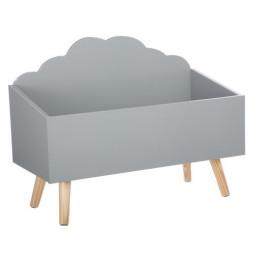 Coffre de rangement nuage - L 58 cm x P 28 cm x H 45 cm - Gris