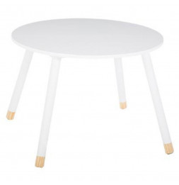 Table pour enfants - Douceur - 60 x 60 x 43 cm - Blanc