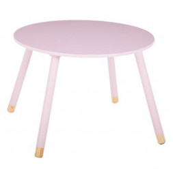 Table pour enfants - Douceur - 60 x 60 x 43 cm - Rose