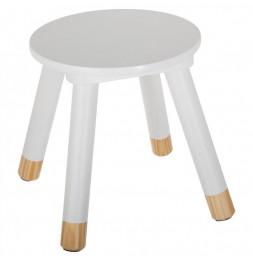Tabouret - Douceur - 24 x 26,5 x 24 cm - Blanc