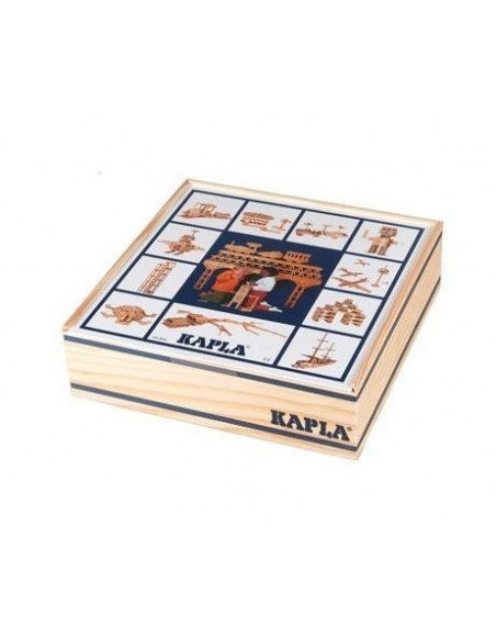 Kapla - Coffret de 100 planchettes en pin des landes - Jeu de construction pour enfants