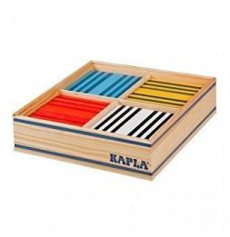Kapla - Coffret Octocolor 100 planchettes colorées en pin des landes - Jeu pour enfant