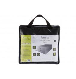 Housse de transat double - L 220 cm x P 145 cm x H 90 cm - Polyester - Gris