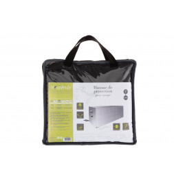 Housse de canapé taille L - L 260 cm x P 115 cm x H 100 cm - Polyester - Gris