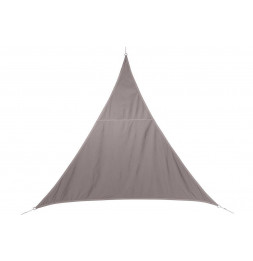 "Toile solaire triangle ""Curacao"" - 200 x 200 x 200 cm - Polyester - Taupe"