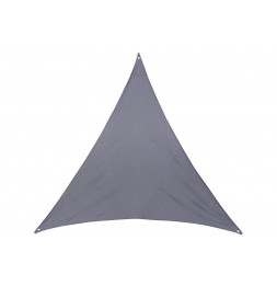"Toile solaire triangle ""Anori"" - 400 x 400 x 400 cm - Polyester - Gris"