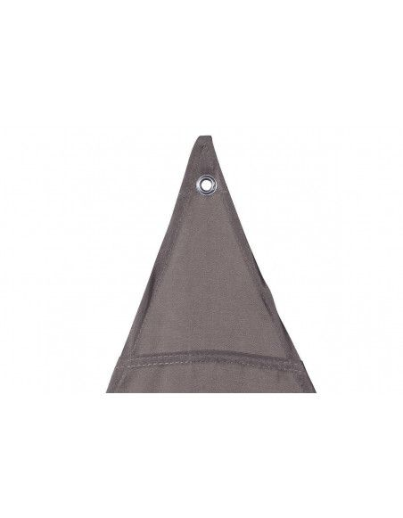 """Toile solaire triangle """"Anori"""" - 300 x 300 x 300 cm - Polyester - Taupe"""