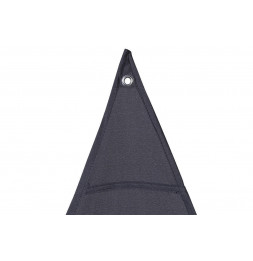 """Toile solaire triangle """"Anori"""" - 300 x 300 x 300 cm - Polyester - Gris"""