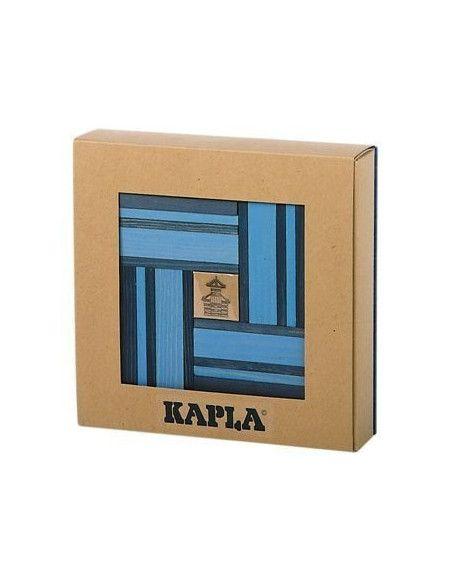 Kapla - Coffret planchettes + livre d'art - Bleu - Jeu de construction