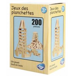 Coffret de 200 planchettes en bois - jeu de construction