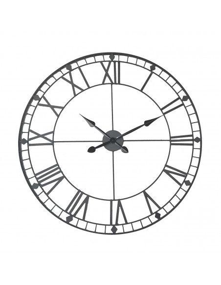 Horloge géante vintage - D 88 cm - Noir