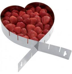 Cadre à patisserie réglable en forme de coeur