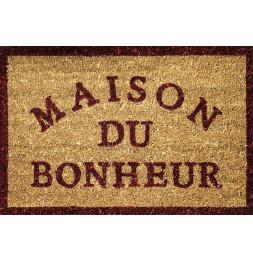 Paillasson rectangle - 45 x 60 cm - Coco - Bonheur