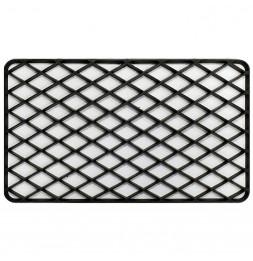 Tapis d'entrée rectangle - 34 x 58 cm - Grille - Noir
