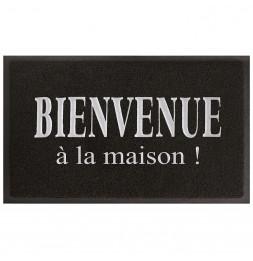 Tapis d'entrée rectangle - 40 x 75 cm - Maison - Noir/Gris
