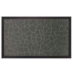 Tapis d'entrée rectangle - 40 x 75 cm - Galets - Gris