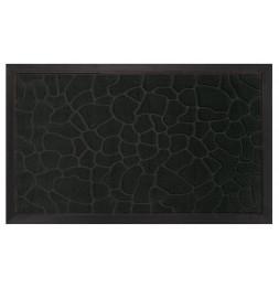 Tapis d'entrée rectangle - 40 x 75 cm - Galets - Noir