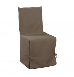 Housse de chaise à nouettes - 50 x 50 x 50 cm - Essentiel - Taupe