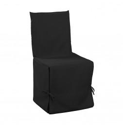Housse de chaise à nouettes - 50 x 50 x 50 cm - Essentiel - Noir