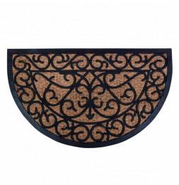 Paillasson demi cercle - 74,5 x 45 x 1,1 cm - Caoutchouc et fibre de coco