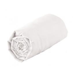 Drap housse 1 personne - 90 x 190 cm - Jersey - Blanc