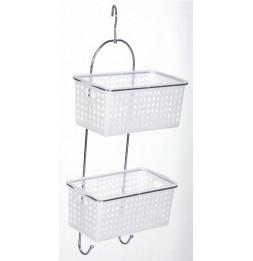 Serviteur / étagère de douche à 2 paniers amovibles