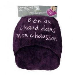 Chausson géant duo ultra doux - Violet