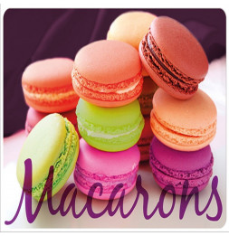 Set de table opaque Macarons - 28,5 x 44 cm - Polypropylène
