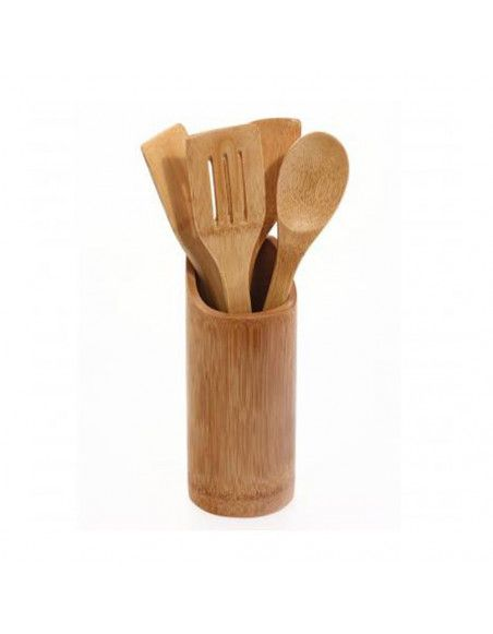 Pot avec 4 ustensiles - Bambou