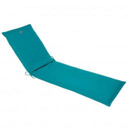 Coussin de transat - 190 x 60 cm - Polyester et mousse PU - Bleu