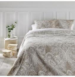Dessus de lit  - Marie -  avec 2 taies d'oreillers - 240 x 260 cm - Polyester - Beige