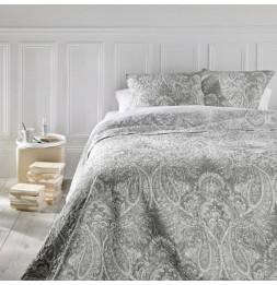 Dessus de lit  - Marie -  avec 2 taies d'oreillers - 240 x 260 cm - Polyester - Gris clair