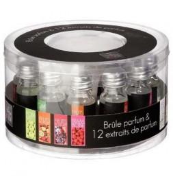 Brûle parfum avec 12 extraits de parfums - 10 mL
